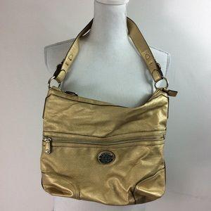 T54 Dana Buchman Gold Shoulder Bag